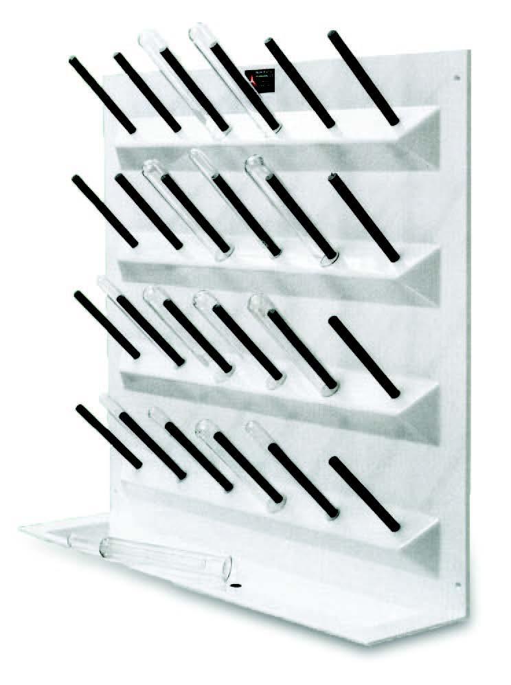 Test tube drying rack
